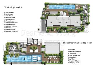 The Park @ level 5 1.  25m Lap pool 2.  Sun Lounges 3.  Rain Shower 4.  Changing Room
