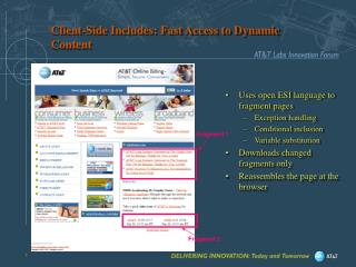 Client-Side Includes: Fast Access to Dynamic Content