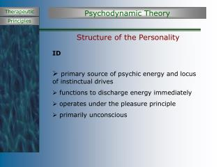 Structure of the Personality