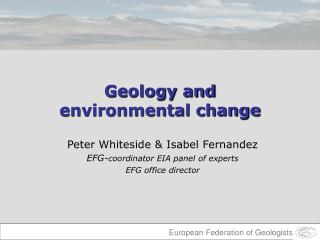 Geology and  environmental change