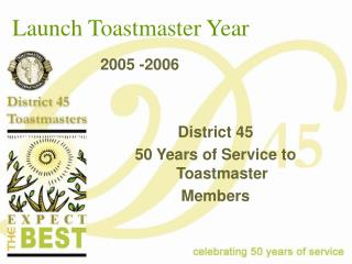 Launch Toastmaster Year
