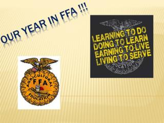 Our Year In FFA !!!