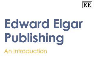 Edward Elgar Publishing