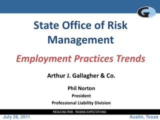 State Office of Risk Management Employment Practices Trends