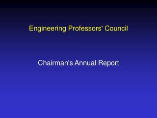 Engineering Professors' Council
