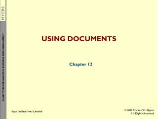 USING DOCUMENTS