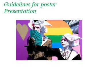 Guidelines for poster Presentation
