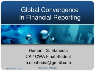 Global Convergence In Financial Reporting
