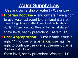 Water Supply Law