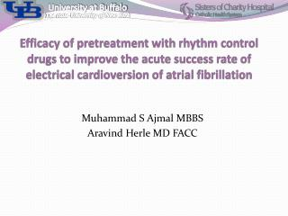 Efficacy  of pretreatment with rhythm control drugs to improve the acute success rate of electrical cardioversion of atr