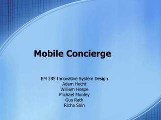 Mobile Concierge