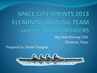 SPACE CITY SPRINTS 2013 ELEARNING ROWING TEAM and  the BAYOU ROWERS