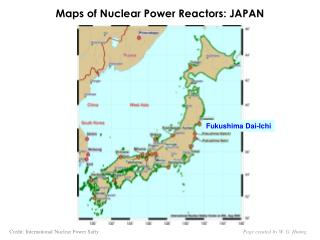 Maps of Nuclear Power Reactors: JAPAN