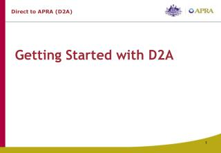 Getting Started with D2A