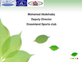 Mohamed Abdelnaby Deputy Director Dreamland Sports club