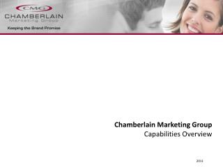 Chamberlain Marketing Group Capabilities Overview