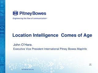 Location Intelligence  Comes of Age