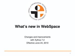 What's new in  WebSpace