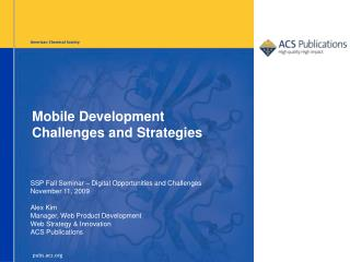 Mobile Development Challenges and Strategies