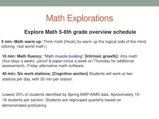 Math Explorations