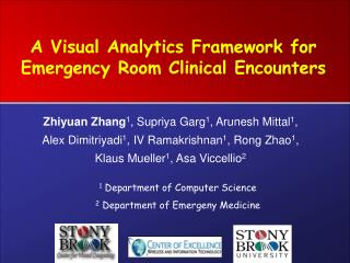 A Visual Analytics Framework for Emergency Room Clinical Encounters