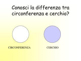 Conosci la differenza tra circonferenza e cerchio?