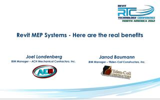Revit MEP Systems - Here are the real benefits