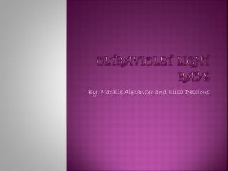 Ultraviolet Light Rays