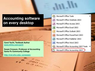 Accounting software on every desktop