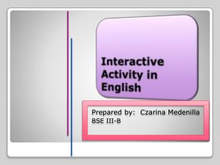 Interactive Activity in English