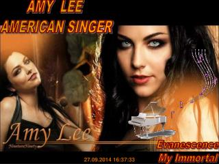 AMY  LEE  AMERICAN SINGER
