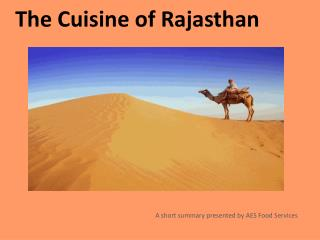 The Cuisine of Rajasthan
