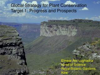 Global Strategy for Plant Conservation  Target 1: Progress and Prospects