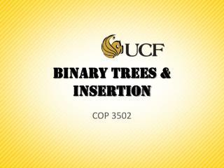 Binary Trees & Insertion