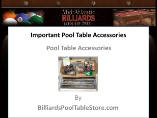 Important Pool Table Accessories