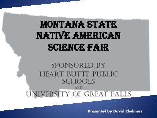 Montana State  Native American  Science Fair