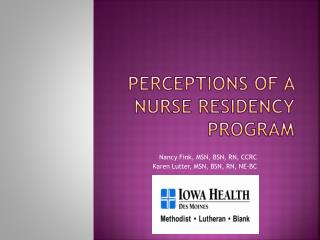 Perceptions of a Nurse Residency Program