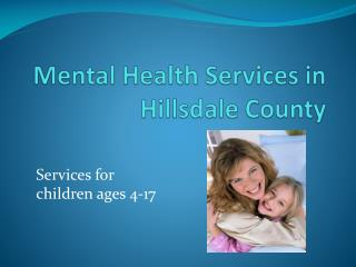 Mental Health Services in Hillsdale County
