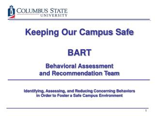 Keeping Our Campus Safe  BART