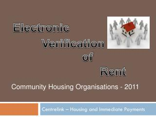 Centrelink – Housing and Immediate Payments