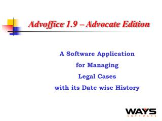Advoffice 1.9 – Advocate Edition