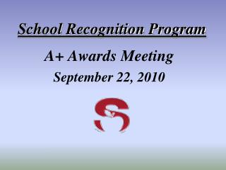 School Recognition Program