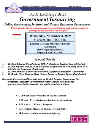 Government Insourcing Policy, Government, Industry and Human Resources Perspectives