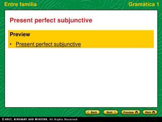 Present perfect subjunctive
