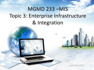 MGMD 233 –MIS Topic 3: Enterprise Infrastructure & Integration