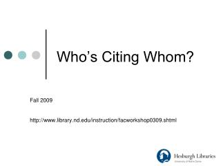 Who's Citing Whom?