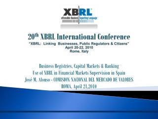 Business Registries, Capital Markets & Banking