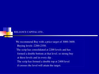 RELIANCE CAPITAL LTD.,