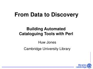From Data to Discovery