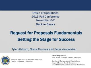 Request for Proposals Fundamentals Setting the Stage for Success